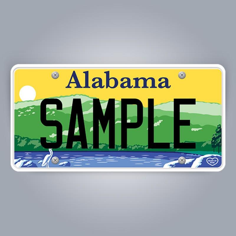Alabama License Plate Replica