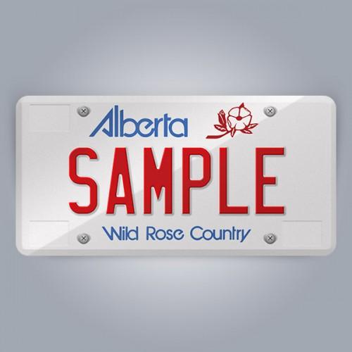 Alberta License Plate Replica