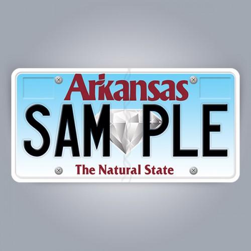 Arkansas License Plate Replica