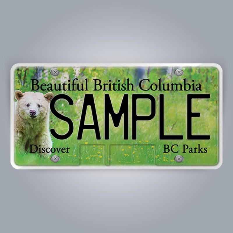 British Columbia License Plate Replica