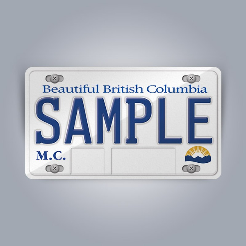 British Columbia License Plate Replica