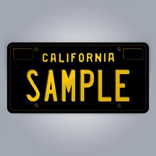 California License Plate Replica