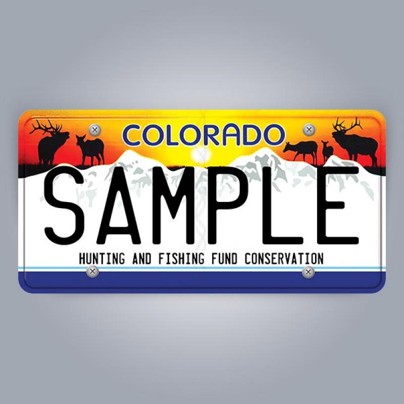 Colorado License Plate Replica