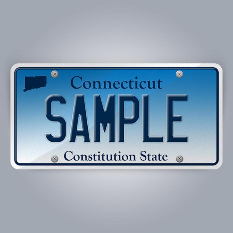 Connecticut License Plate Replica