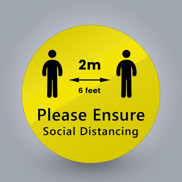Please Ensure Social Distancing Sticker