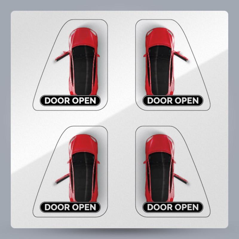 DOOR OPEN Button Stickers for Tesla Model 3, Y  (Set of 8)