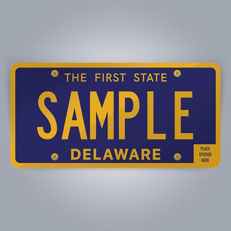 Delaware License Plate Replica
