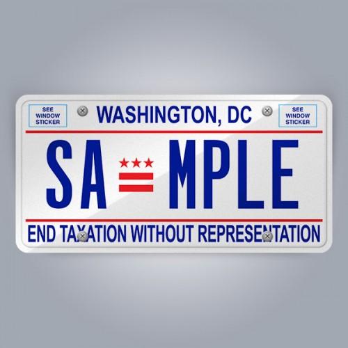 District of Columbia License Plate Replica