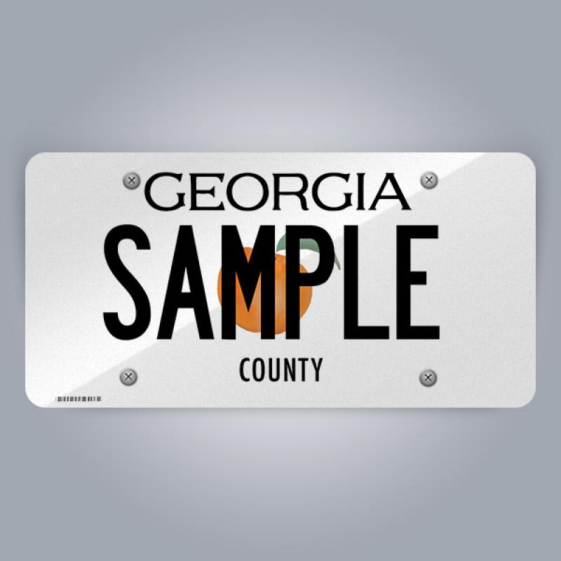 Georgia License Plate Replica