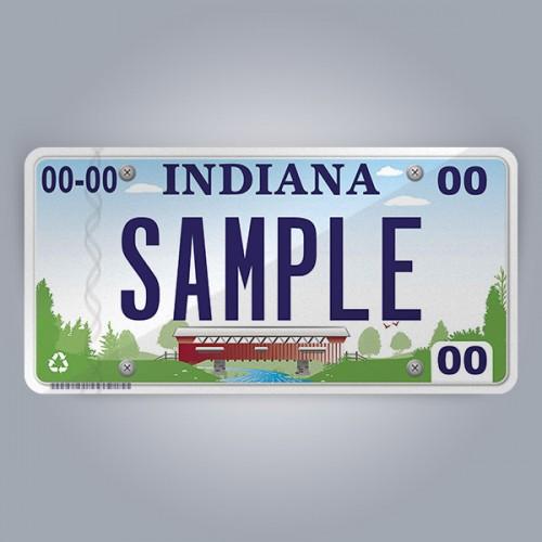 Indiana License Plate Replica