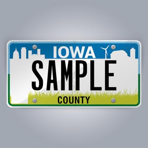 Iowa License Plate Replica