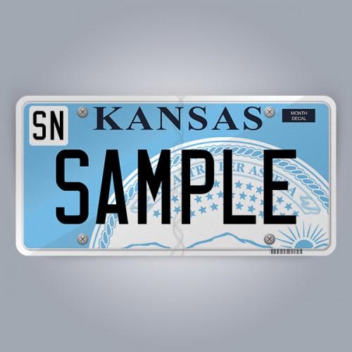 Kansas License Plate Replica