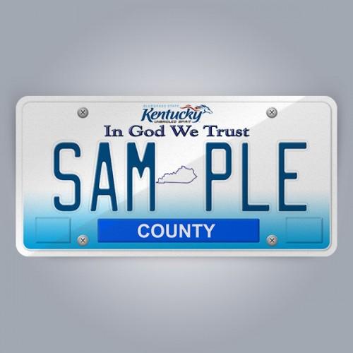 Kentucky License Plate Replica