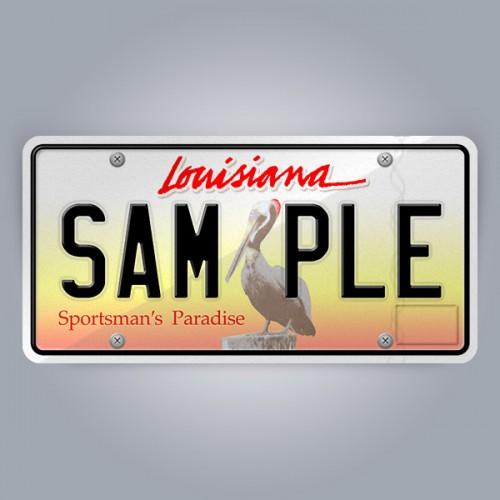 Louisiana License Plate Replica