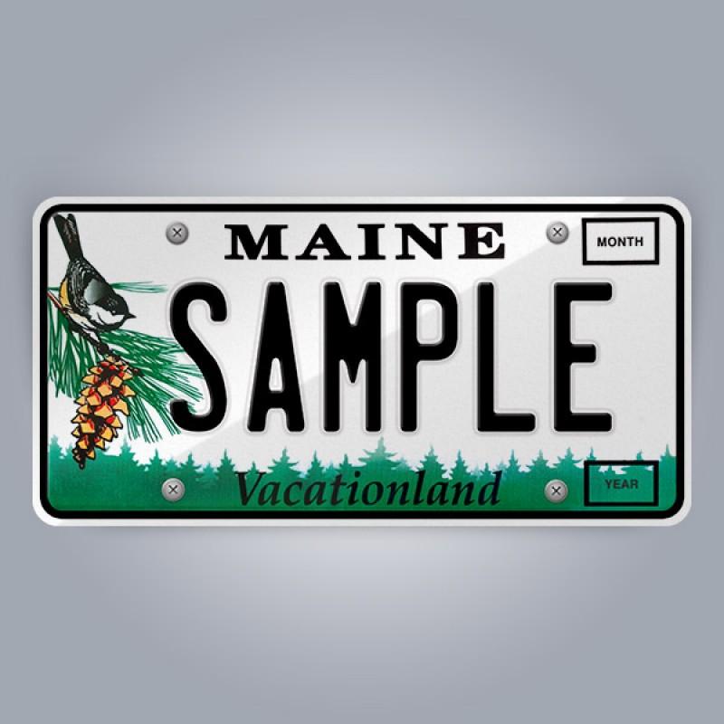 Maine License Plate Replica