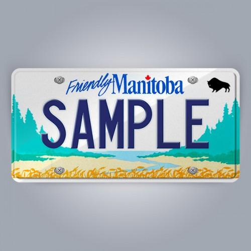 Manitoba License Plate Replica