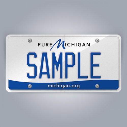 Michigan License Plate Replica