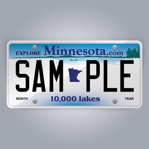 Minnesota License Plate Replica