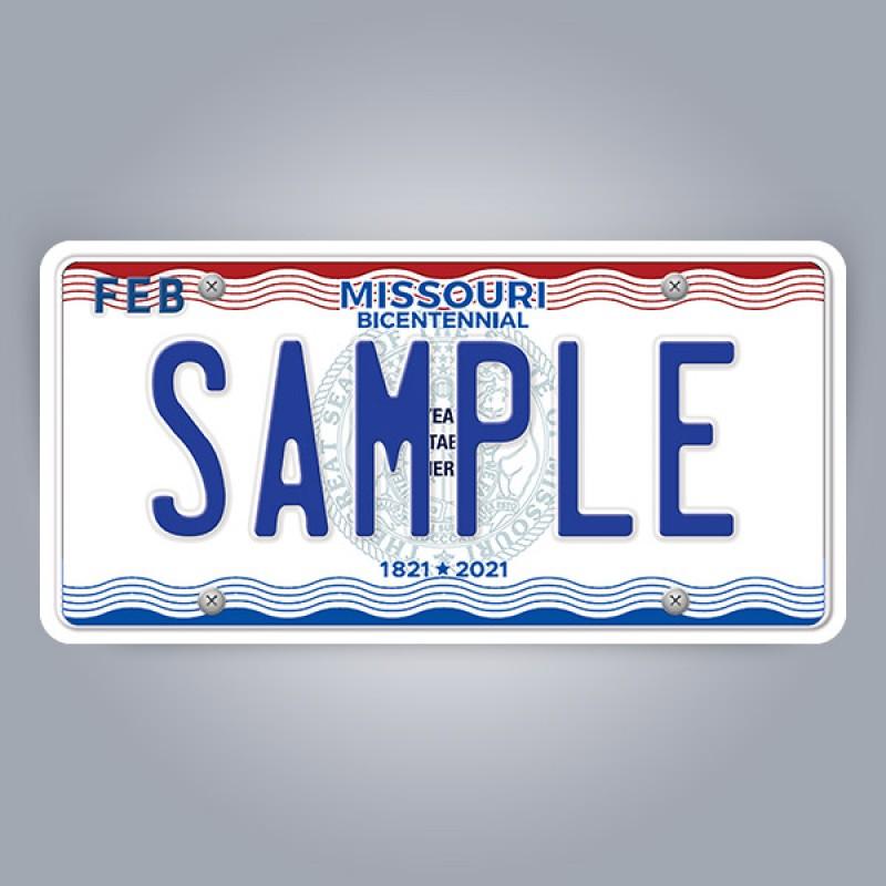 Missouri License Plate Replica