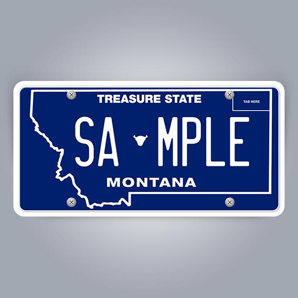 Montana License Plate Replica