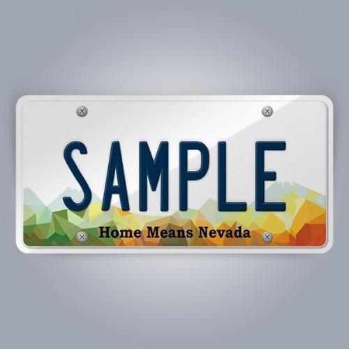 Nevada License Plate Replica