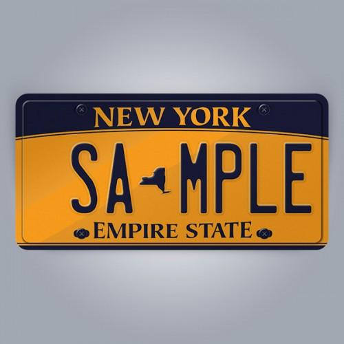 New York License Plate Replica