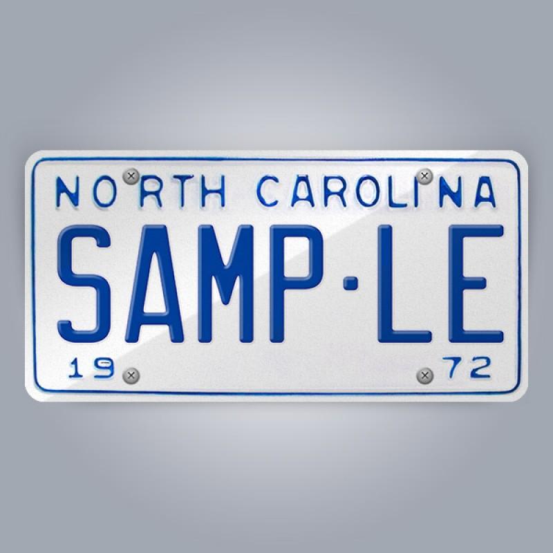 North Carolina License Plate Replica