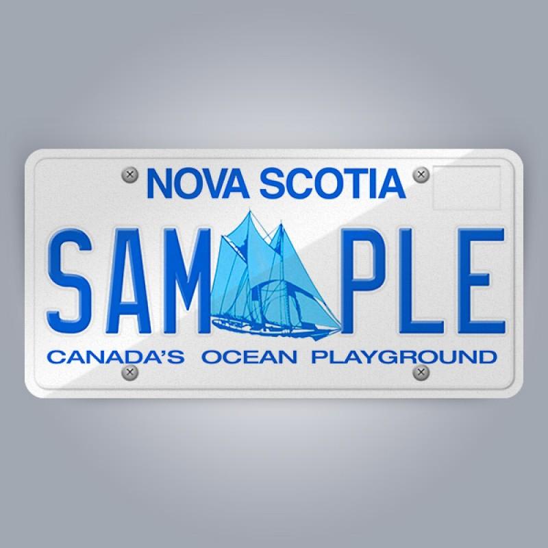 Nova Scotia License Plate Replica