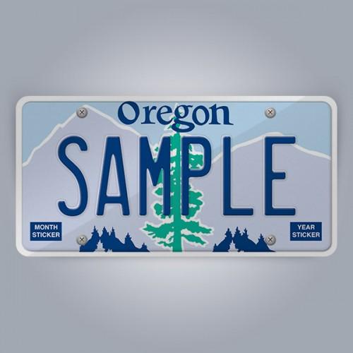 Oregon License Plate Replica