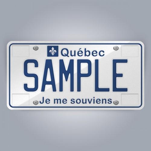 Quebec Licence Plate Replica