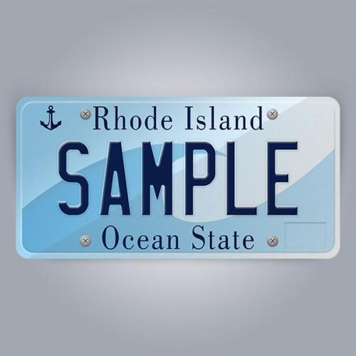 Rhode Island License Plate Replica