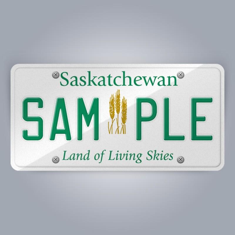 Saskatchewan License Plate Replica