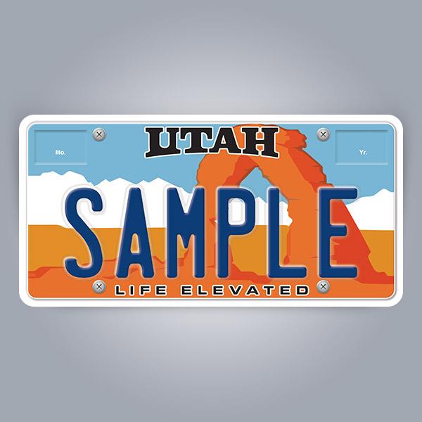 Utah License Plate Replica