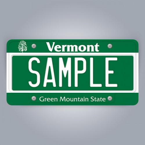 Vermont License Plate Replica