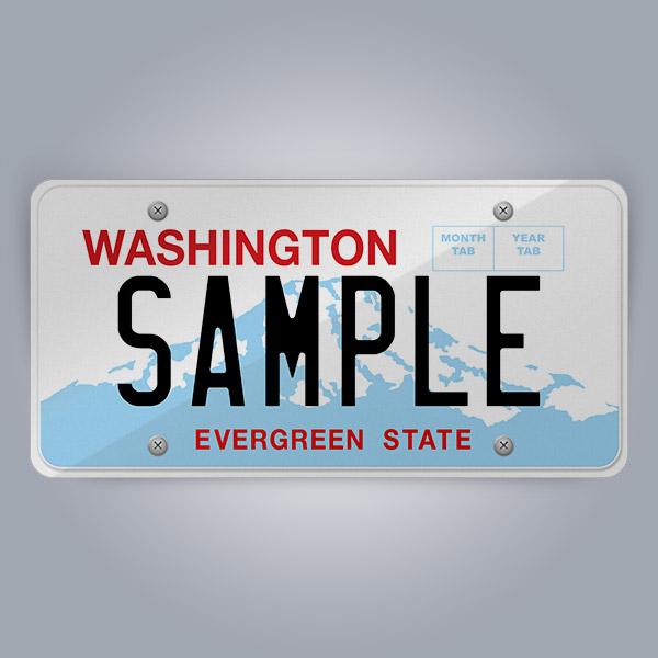 Washington License Plate Replica