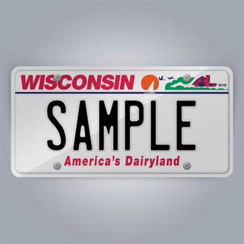 Wisconsin License Plate Replica